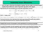 outphasing issues mismatches
