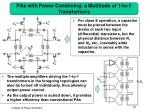 pas with power combining a multitude of 1 to 1 transformers