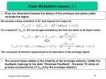 polar modulation issues