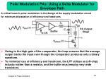 polar modulation pas using a delta modulator for envelope path