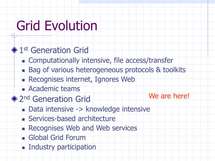 Grid Evolution