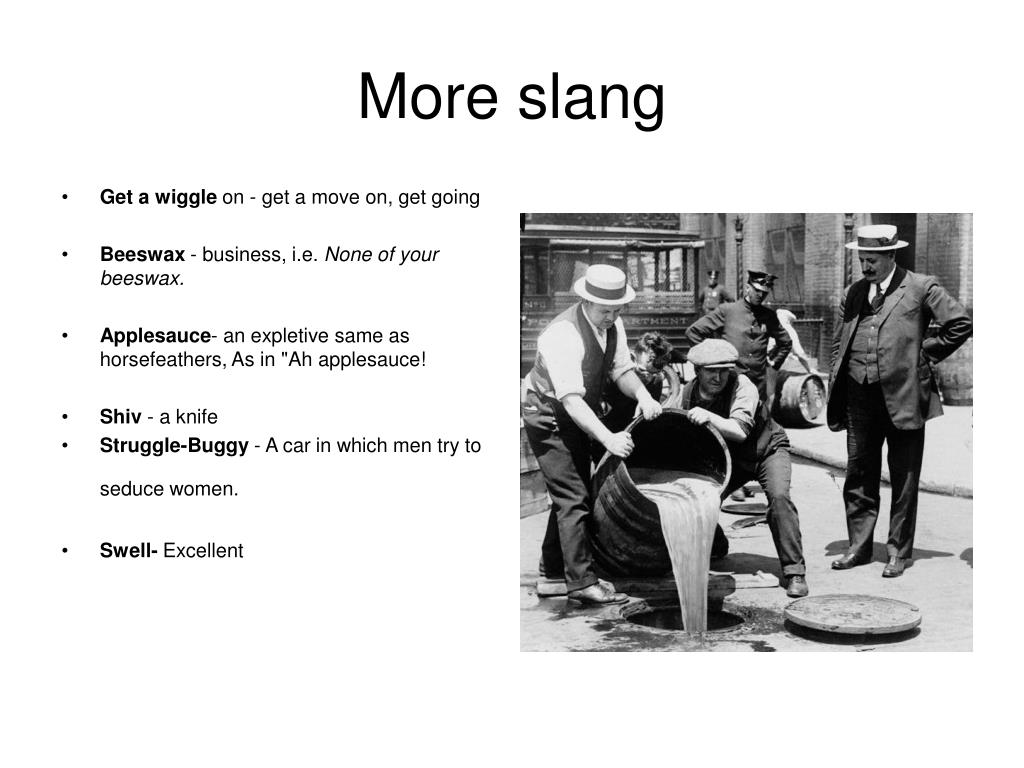 PPT - 1920's Slang PowerPoint Presentation - ID:4702650