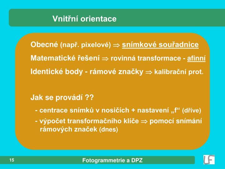 Vnitřní orientace
