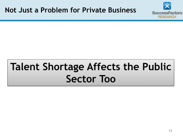 Not Just a Problem for Private Business