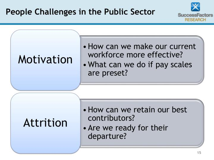 People Challenges in the Public Sector
