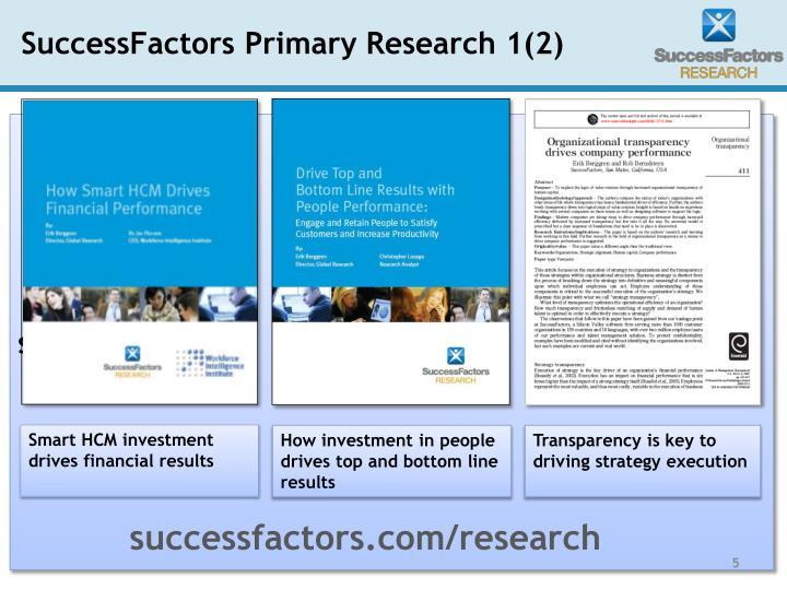 SuccessFactors Primary Research 1(2)