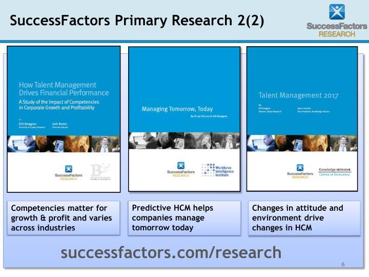 SuccessFactors Primary Research 2(2)