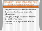 chapter 1 brain plasticity your brain changes everyday