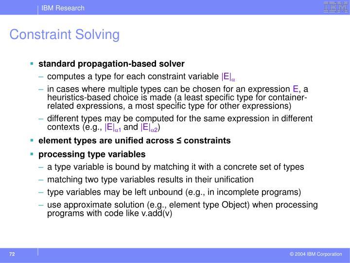Constraint Solving