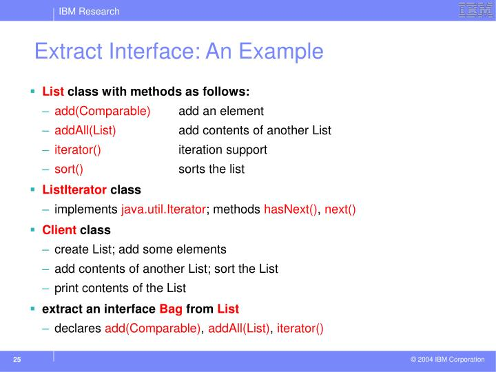Extract Interface: An Example