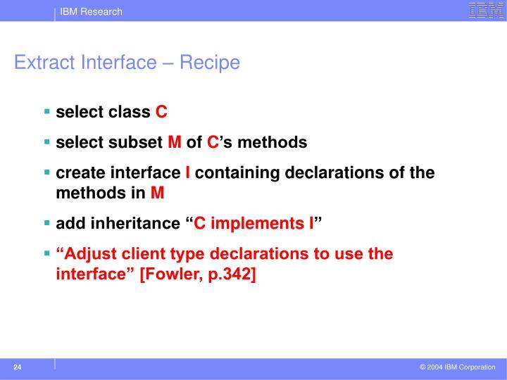 Extract Interface – Recipe