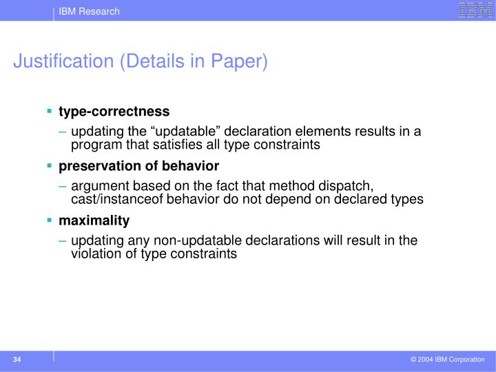 Justification (Details in Paper)