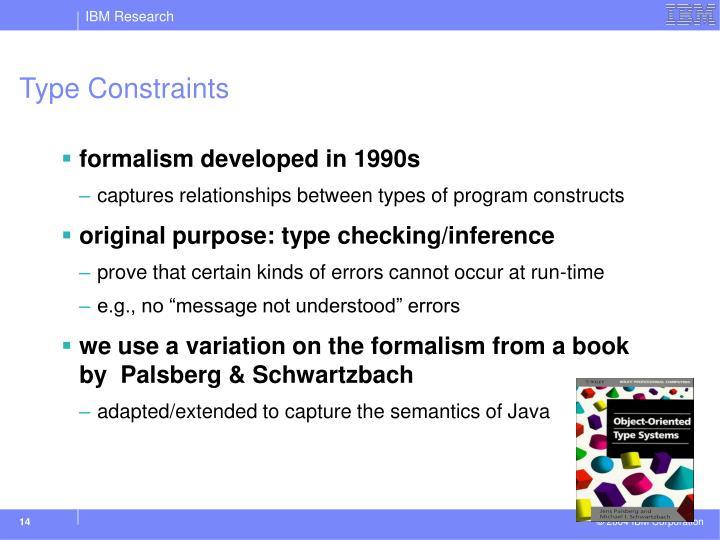 Type Constraints