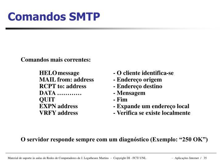 Comandos SMTP