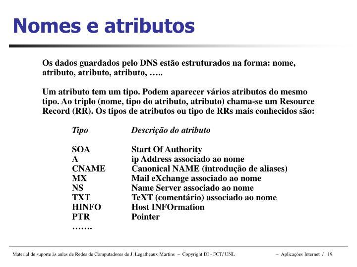 Nomes e atributos