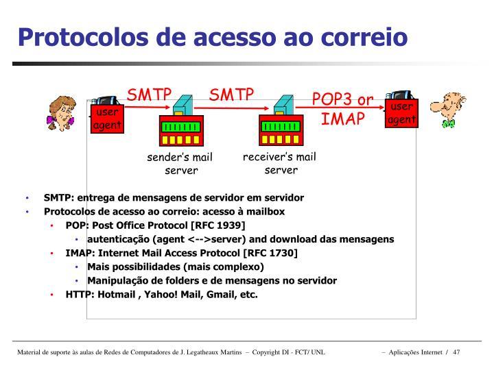 SMTP: entrega de mensagens de servidor em servidor