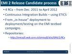 emi 2 release candidate process