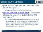glite security updates