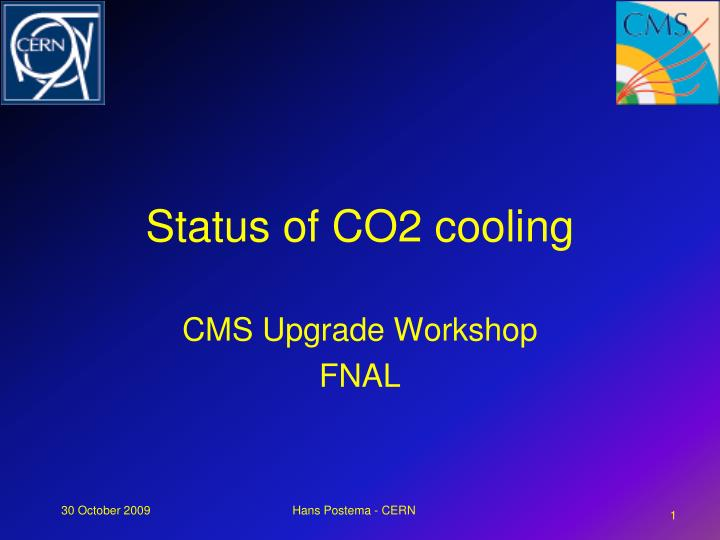 status of co2 cooling n.