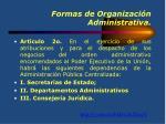 formas de organizaci n administrativa