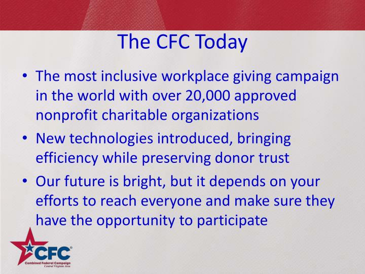 The CFC Today