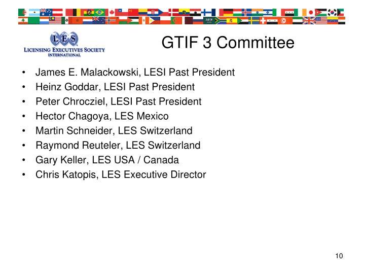 GTIF 3 Committee