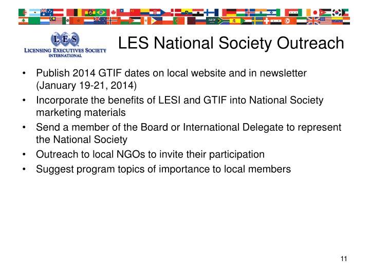LES National Society Outreach
