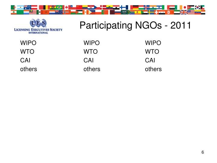Participating NGOs - 2011