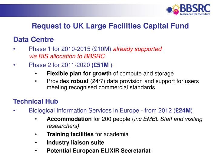 Request to UK Large Facilities Capital Fund