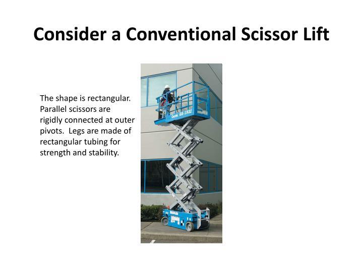 Consider a Conventional Scissor Lift