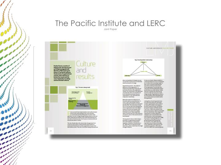 The Pacific Institute and LERC