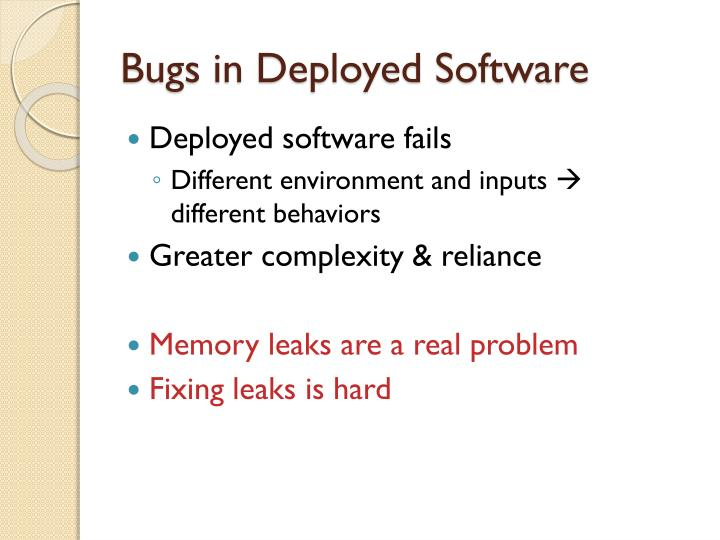 Bugs in deployed software1