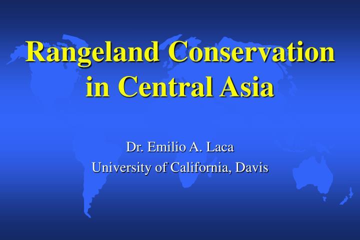 Rangeland Conservation in Central Asia