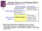 design space and related work