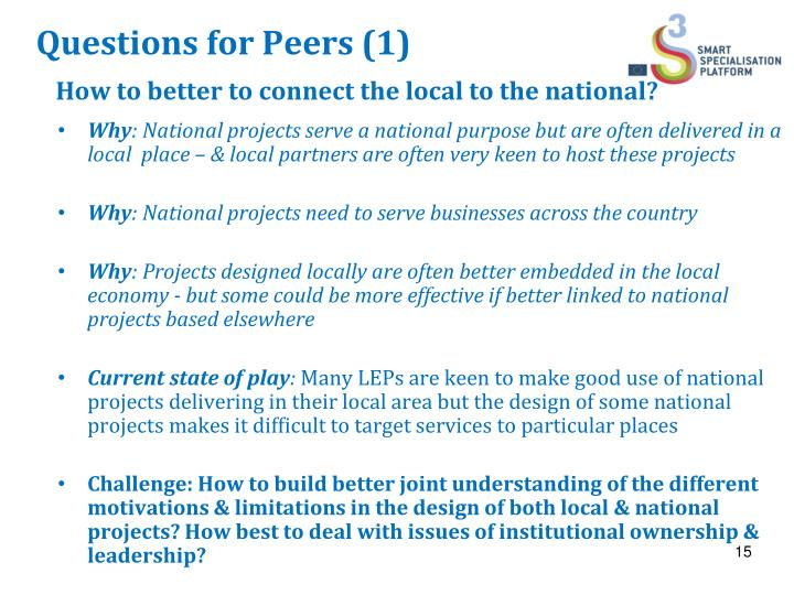 Questions for Peers (1)