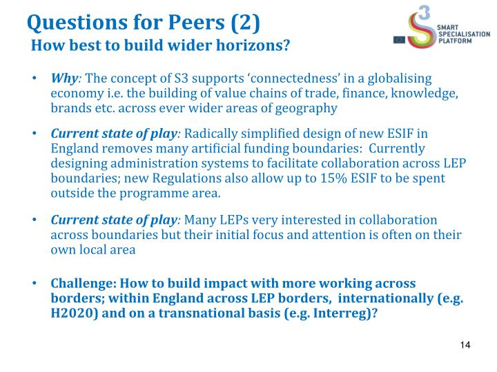 Questions for Peers (2)