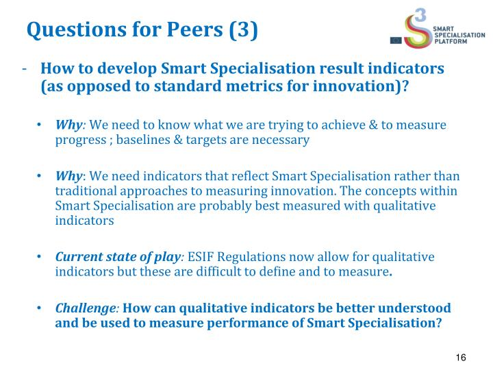 Questions for Peers (3)