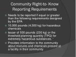 community right to know reporting requirements