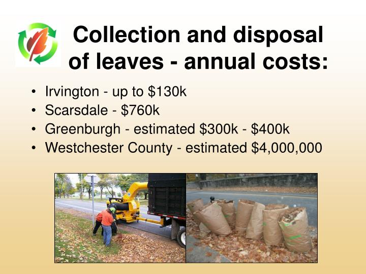 Collection and disposal of leaves annual costs