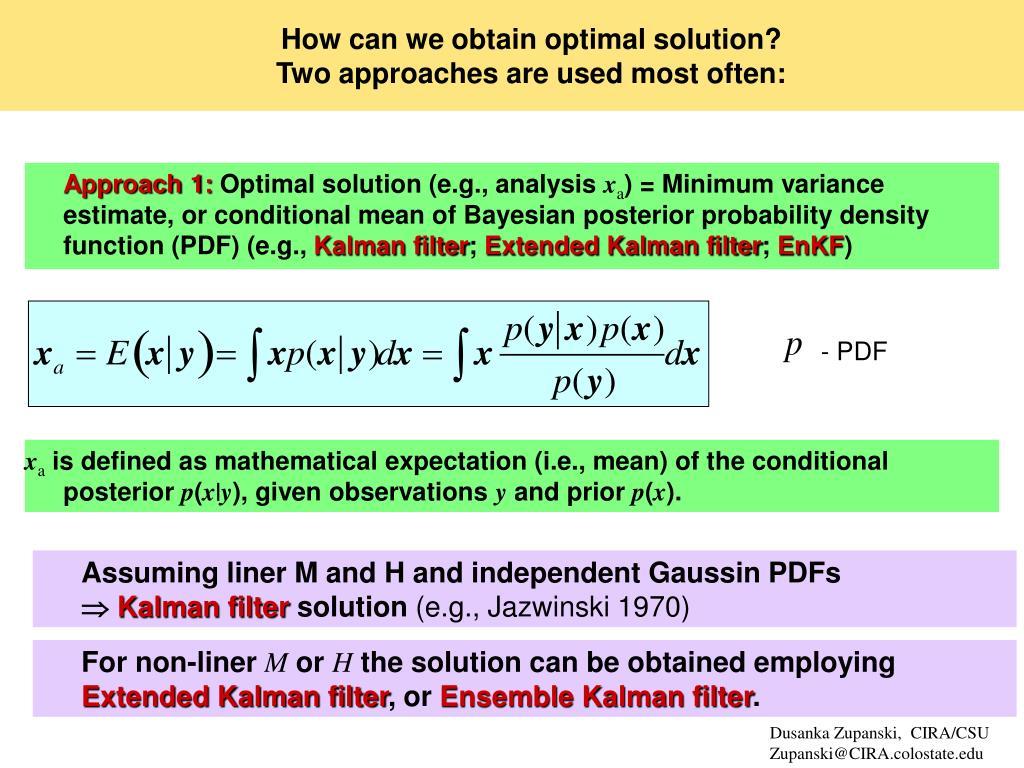 PPT - Ensemble Kalman Filter PowerPoint Presentation - ID
