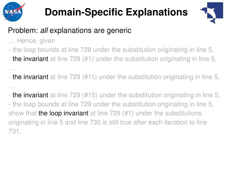 Domain-Specific Explanations