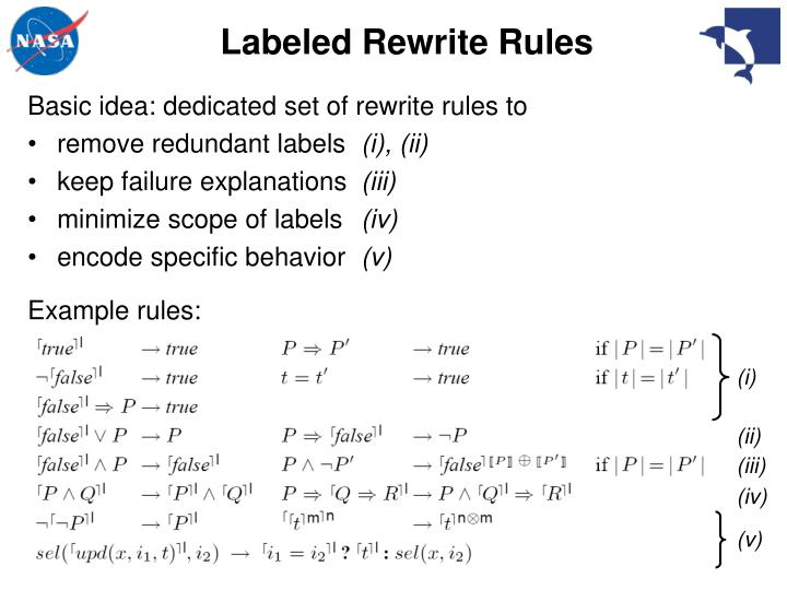 Labeled Rewrite Rules