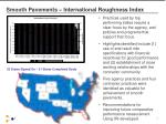 smooth pavements international roughness index
