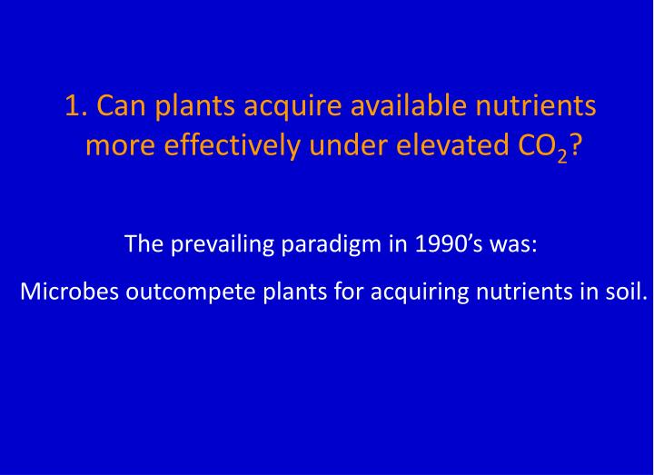 1. Can plants acquire available nutrients