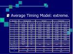 average timing model extreme