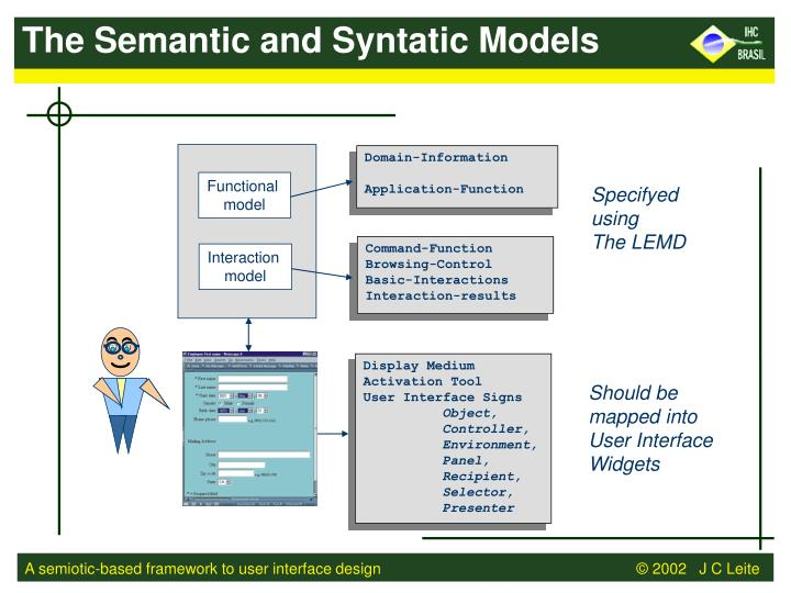 The Semantic and Syntatic Models