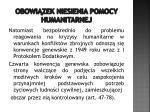 obowi zek niesienia pomocy humanitarnej7
