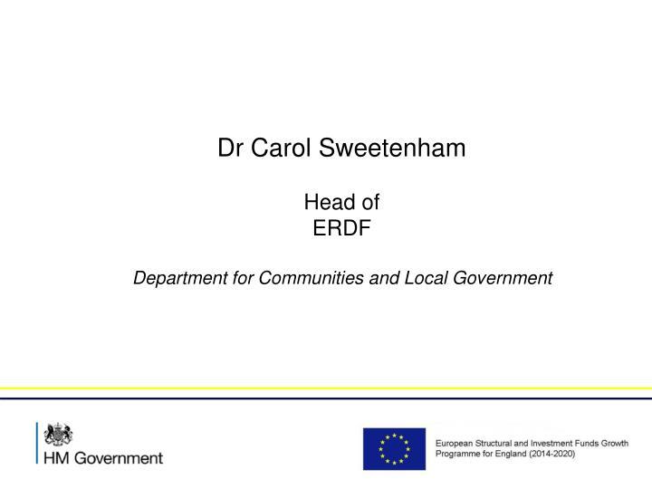 Dr Carol Sweetenham