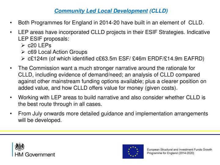 Community Led Local Development
