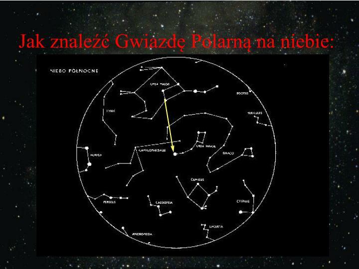 Jak znale gwiazd polarn na niebie